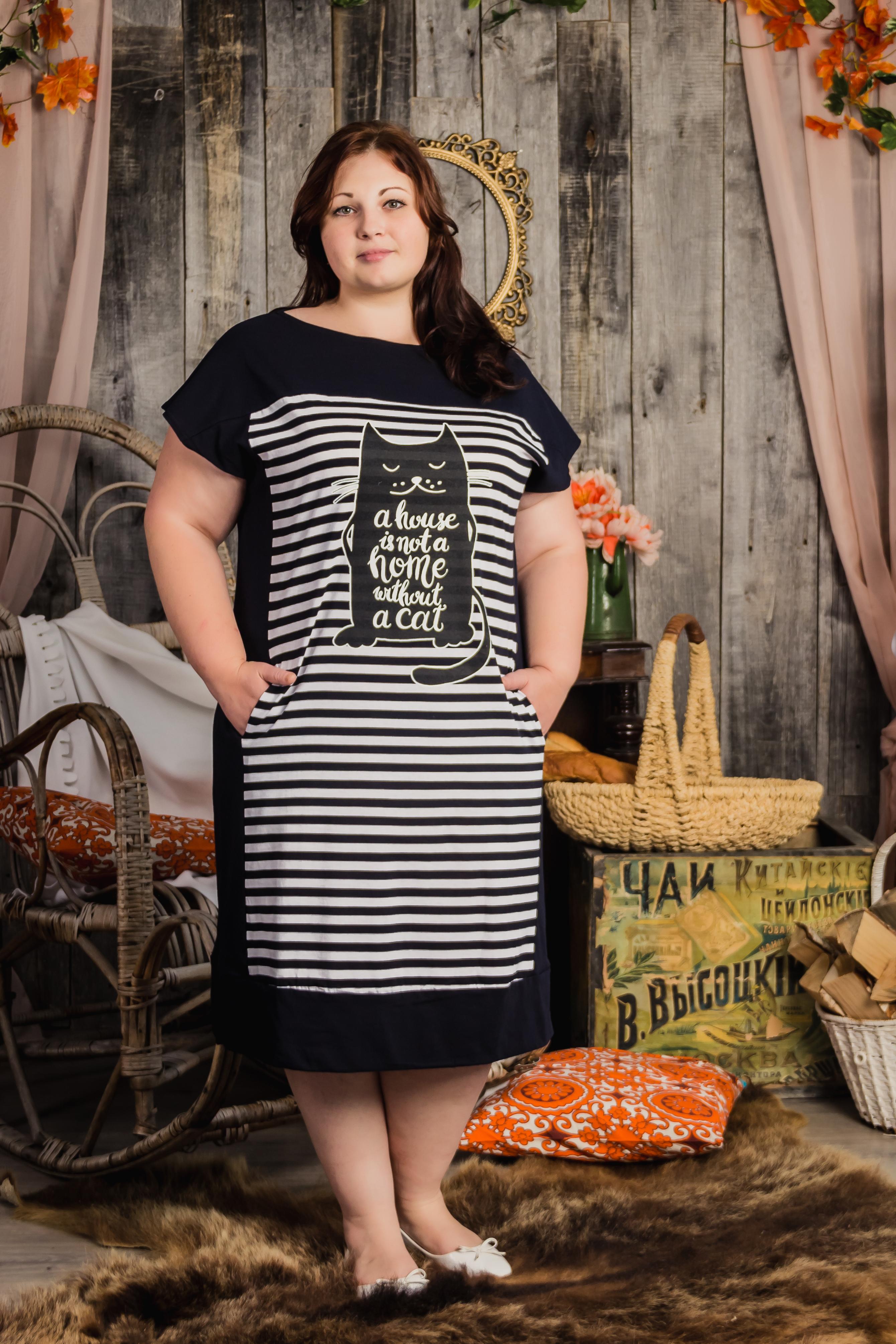 Изображение: Туника-платье с принтом