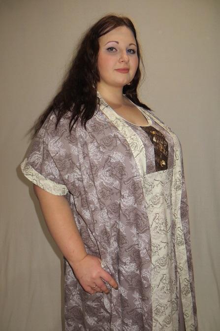 Изображение: Комплект (запашной халат и сорочка)